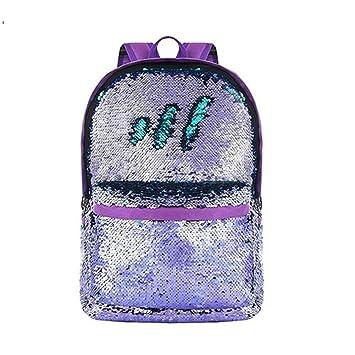 HMONSTER Mochila Unisex para niños, niñas, Moda, Lentejuelas con Brillo, Mochila, Bolsa de Viaje de Gran Capacidad, Mochilas Escolares: Amazon.es: Equipaje