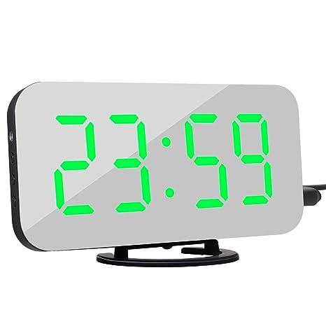 LHLDD Reloj Despertador Digital con Pantalla Grande LED ...