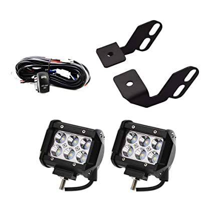 dasen front side pillar roll cage light mounting brackets w/2 pcs led work  lights