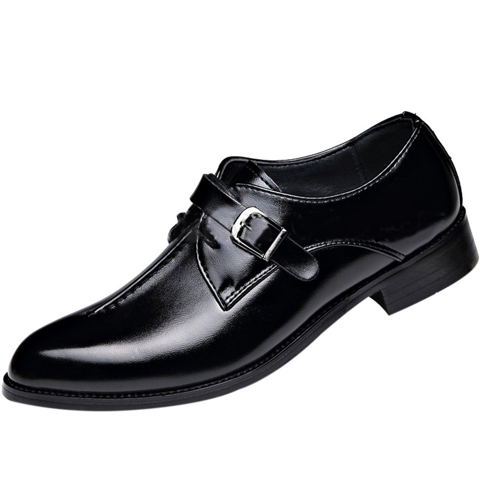 MHB Men/'s Leisure Lofer Lace-up Pointed Toe Oxford Leather Shoes Low Flat