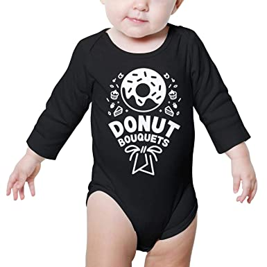 825d9d410 Amazon.com: Happy National Donut Day Baby Onesies Romper Long Sleeve  Sleepwear Cotton Soft: Clothing