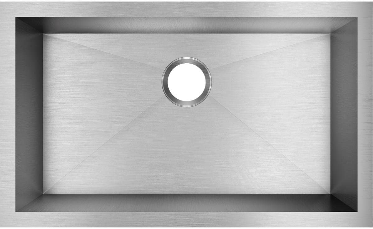 Elkay Crosstown EFU281610T Single Bowl Undermount Stainless Steel Kitchen Sink