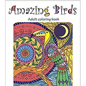 Amazing Birds: Adult Coloring Book (Beautiful Designs for Relaxation and Calm 1)