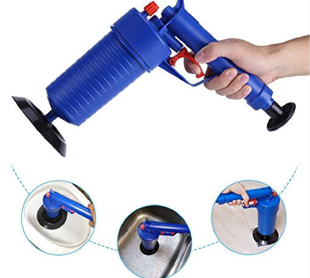 Pipe Blockage Remover Unblocker Air Pump Drain Blaster Sink Plunger Bath Toilet YDT