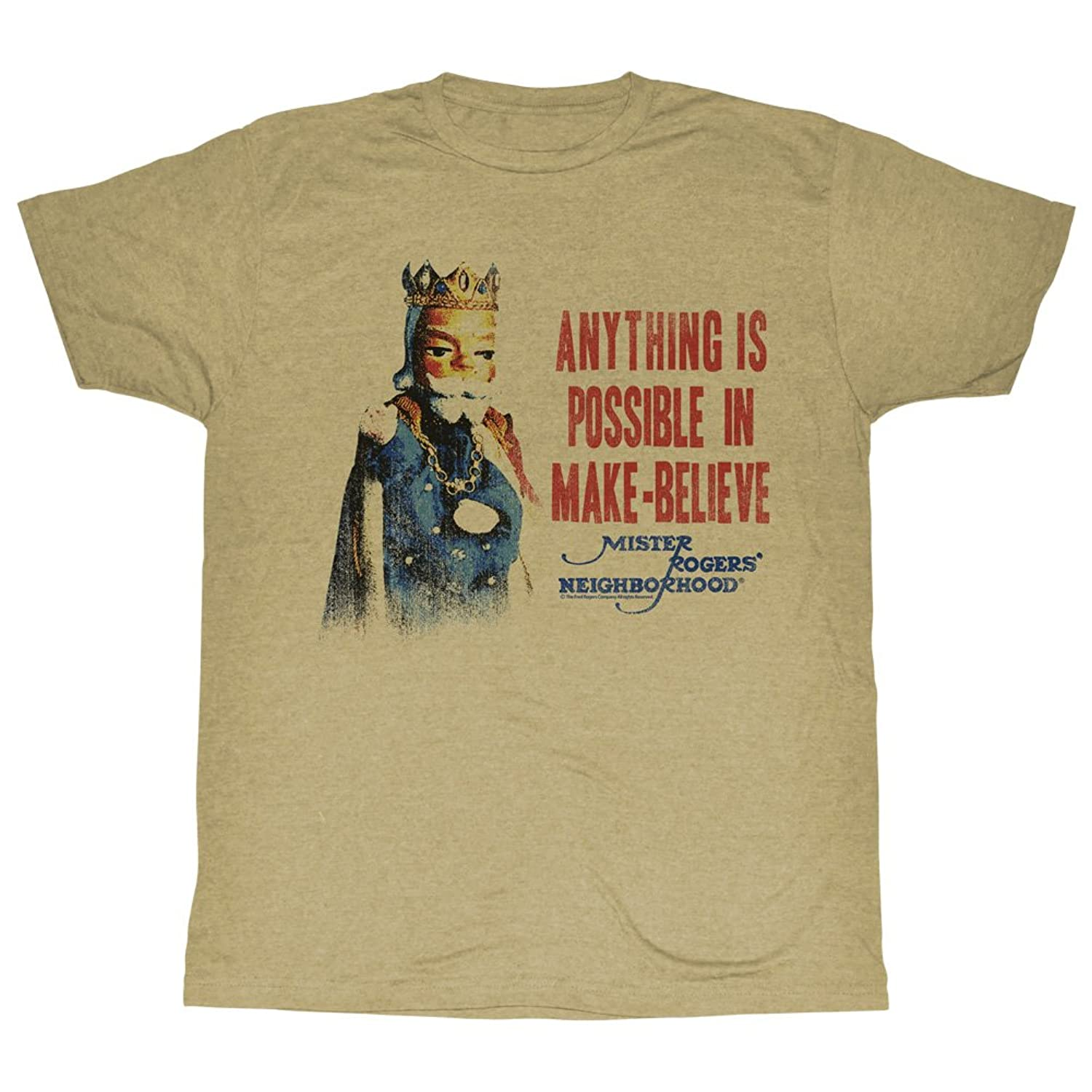Mister Rogers Children's PBS TV Series Anything is Possible Adult T-Shirt