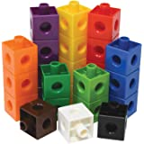 Edx Education Linking Cubes - in Home Learning Toy for Early Math - Set of 100 - .8 inch Size - Connecting Blocks…