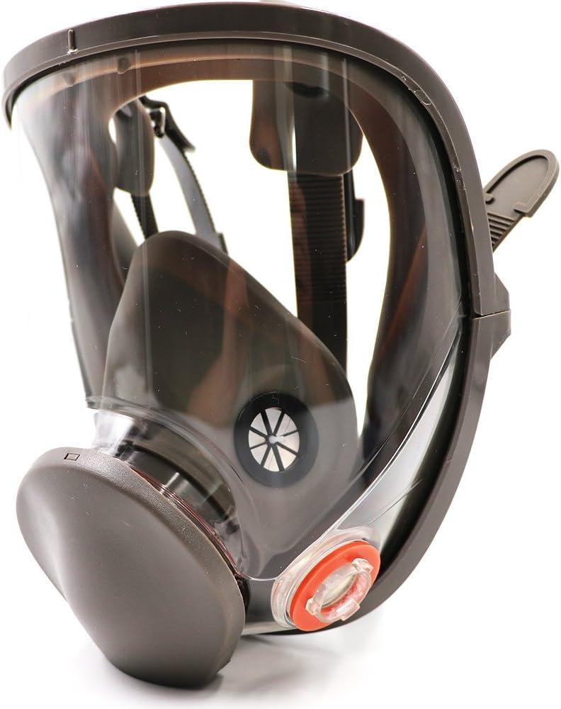 Bearhoho Full Face máscara de gas respirador filtros reutilizable para pintura productos químicos