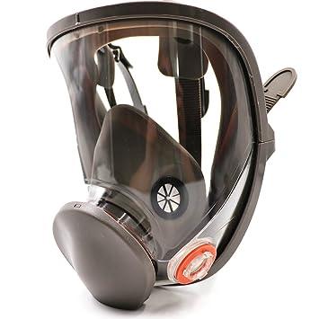 Bearhoho Full Face máscara de gas respirador filtros reutilizable para pintura productos químicos: Amazon.es: Bricolaje y herramientas