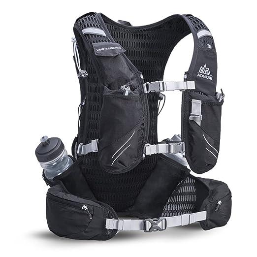 Amazon.com : AONIJIE 15L Hydration Backpack   Vest Pack 2 Pcs 600 ML Water Bottle - Adjustable Padded Shoulder, Chest & Waist Straps - Reflective Design ...