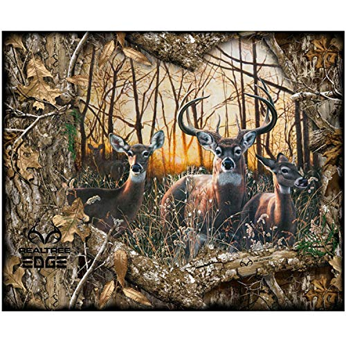(Realtree Edge Daybreak Deer Fabric Panel by Sykel Enterprises 100% Cotton Quilt Fabric 1167-X - 35