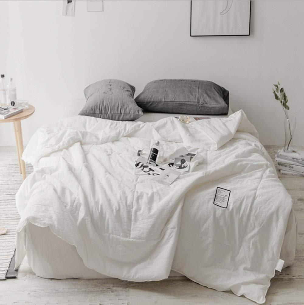 JPAKIOS 空調ブランケット春と夏は家庭用に適した洗える単一の子供の薄いキルトです (色 : ホワイト, サイズ : 200*230CM) 200*230CM ホワイト B07S3GTCPK