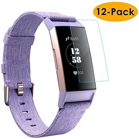 KIMILAR Compatible with Fitbit Charge 3 Protection Décran [12 Paquet], Couverture Complète Flexible Film Protecteurs pour Fitbit Charge 3 & Special ...
