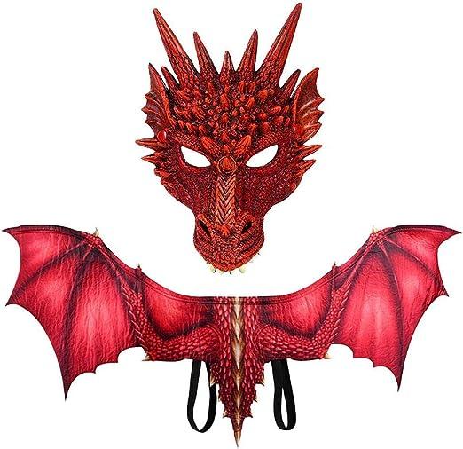 Hamkaw Disfraz de dragón Malvado de Halloween, Impresión 3D ...