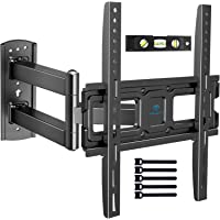 PERLESMITH TV Wall Mount Bracket Full Motion Single Articulating Arm for Most 32-55 Inch LED, LCD, OLED, Flat Curved TVs…