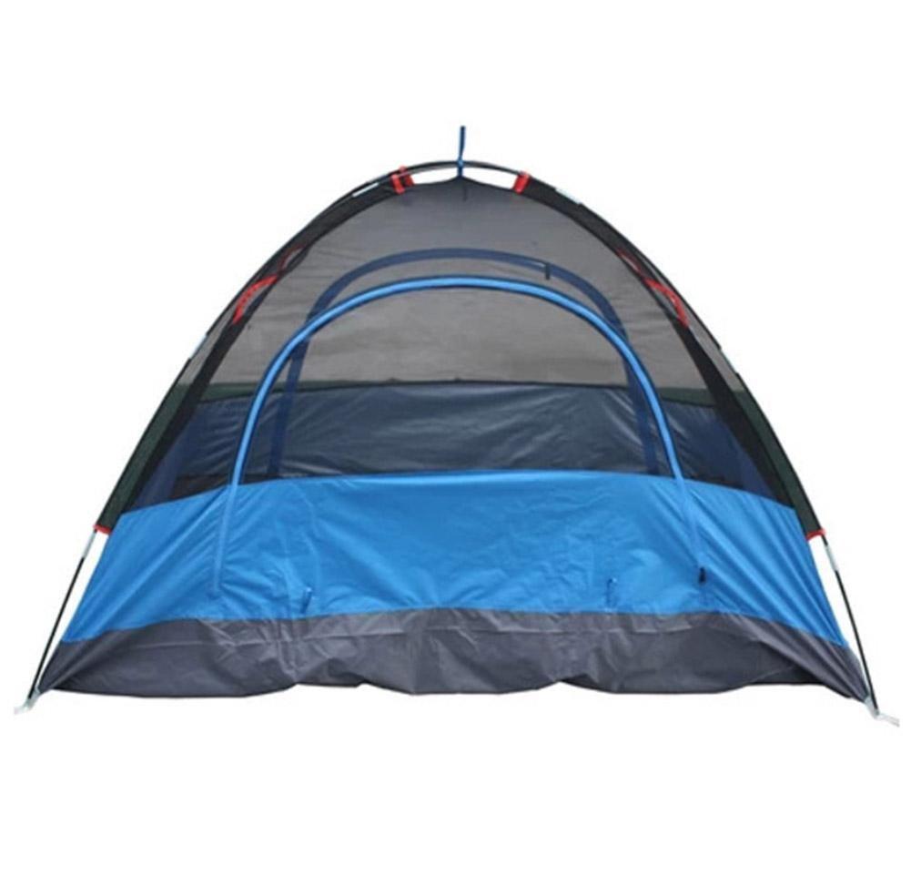 SZH&ZPT Tente extérieure bleu double couche respirante pour 1 personne randonnée Camping Parcs