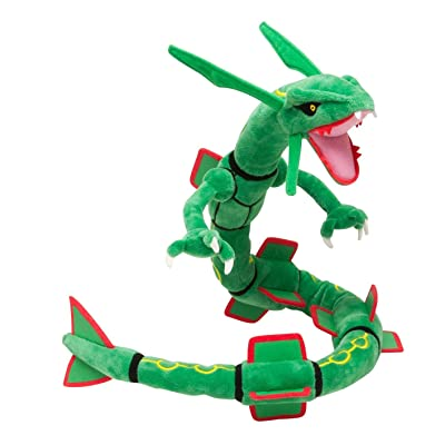 "Latim Pokemon Center XY Rayquaza Dragon Plush Soft Toy Stuffed Anime Collectible Dolls 31"": Toys & Games"
