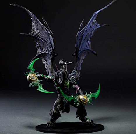 Wow World Of Warcraft Illidan Stormrage Action Figure Toy Doll Model Statue