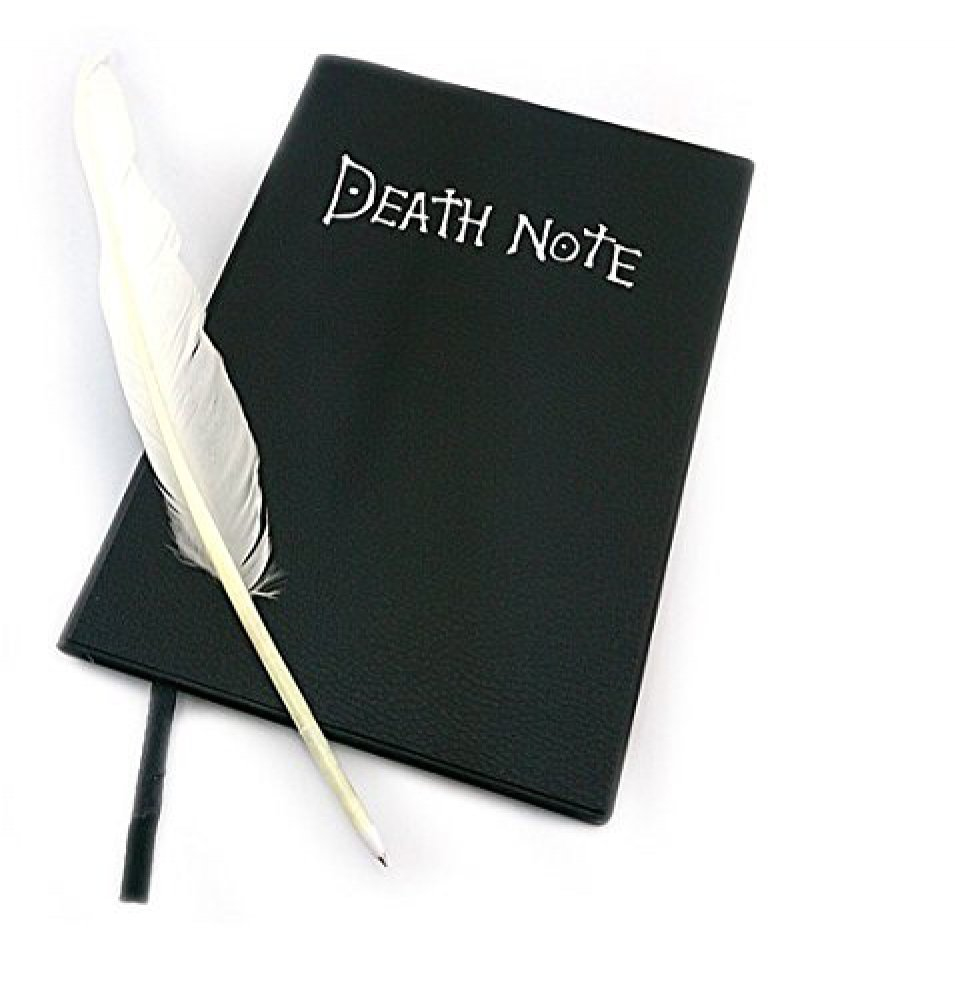 L-zonc 135 Pages Death Note Notebook with Feather Pen