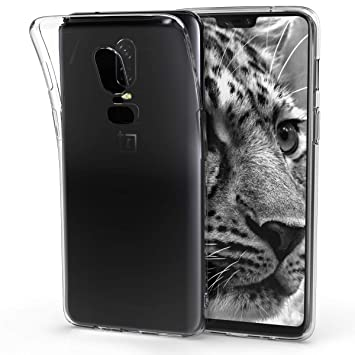 kwmobile Funda para OnePlus 6 - Carcasa Protectora de TPU para móvil - Cover Trasero en Transparente
