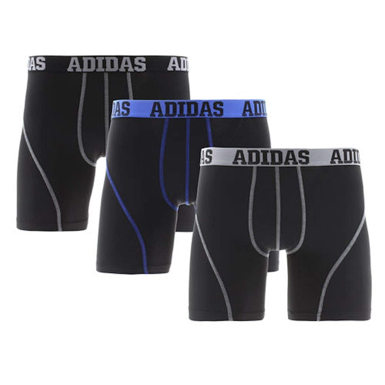 Adidas Men's Climalite Performance Boxer Brief Underwear (3-Pack)