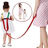 Suntapower Anti-lost Backpack,2 in 1 Baby Walking Safety Harness Reins Toddler Leash for 0-5 years Kids (Red/Blue)