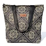 VAVAER Floral Tote Bag with Light Color Interior