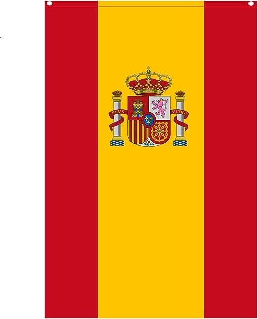 Durabol Bandera de España con Escudo Vertical 150X90 CM Flag Satin ...