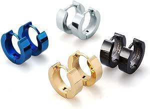 Jstyle Stainless Steel Unique Small Hoop Earrings for Men Huggie Earrings