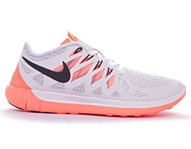 brand new e98b2 fda02 Nike Free 5.0  14 Women s chaussure de course à pied - HO14 Blanc White  Black Bright mango Platinum 36.5  Amazon.fr  Sports et Loisirs
