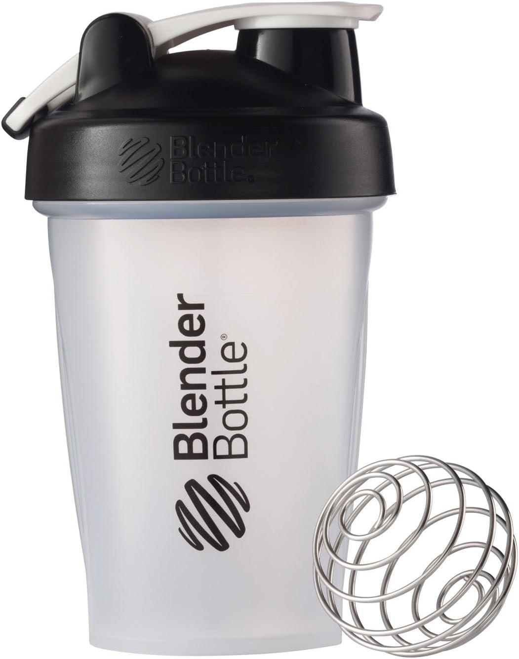BlenderBottle Classic Loop Top Shaker Bottle, 20-Ounce, Clear/Black