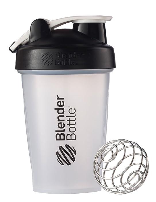 BlenderBottle Classic Loop Top Shaker Bottle, Clear/Black, 20-Ounce