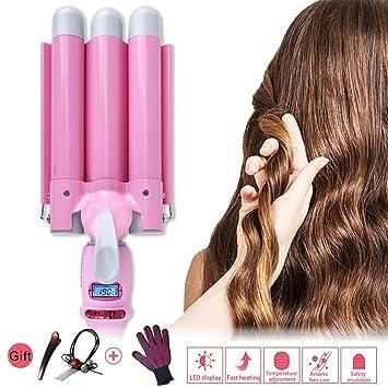 Drei Rohr Lockenstab Multifunktionale Haarlockenwickler Fur Lange Kurze Haare Automatische Wave Roll Haarstock Sformige Lockenwickler Rosa