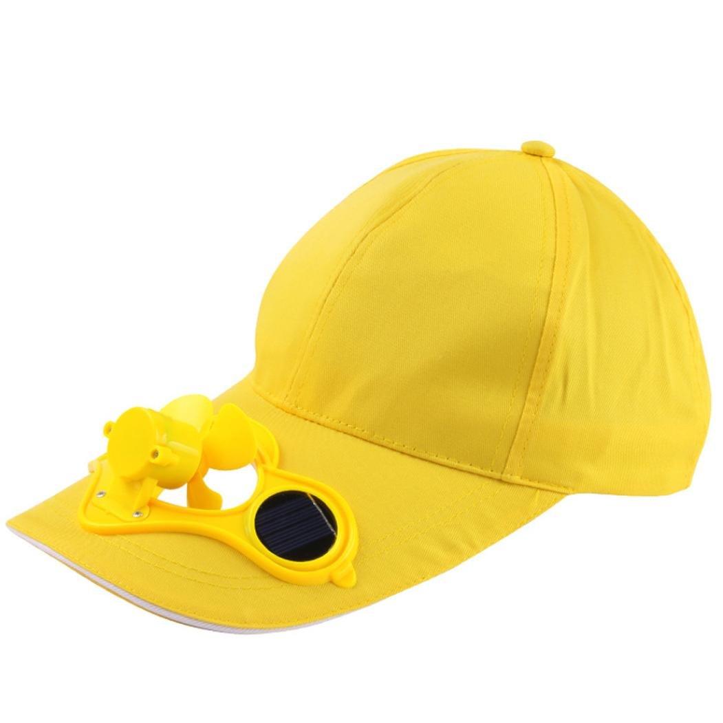 ☀️ Absolute ☀️ Sombrero de Béisbol Fan de Energía Solar, Camping Senderismo Gorra de Pico con Ventilador Solar Powered Hat Gorra de Ventilador de enfriamiento