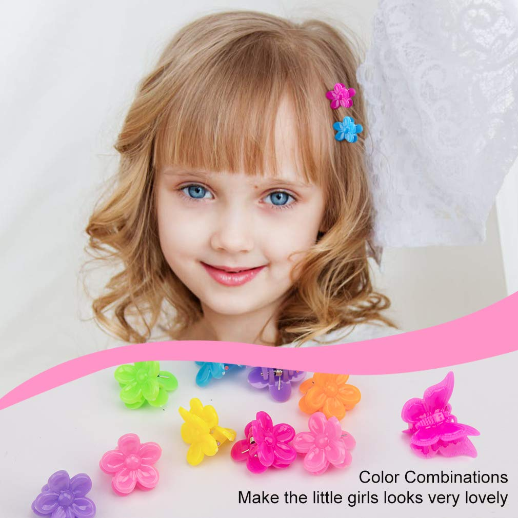 10 pcs New Fashion Baby Girls Small Hair Claw Cute Candy Color flower Hair Jaw C