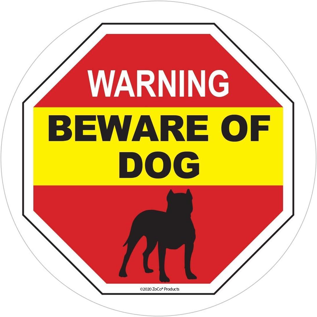 Beware Of The Dog Vinyl Sticker Decal Security Safety Warning Window Sticker