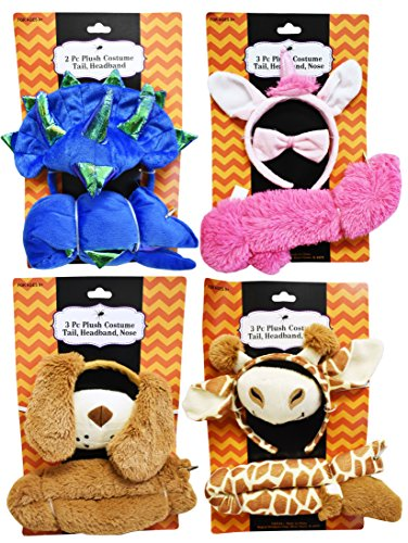 Set of 4 Adorable Plush Costumes! Adorable for Children or Adults! (4, Set of (Boo From Monsters Inc Costumes For Toddler)