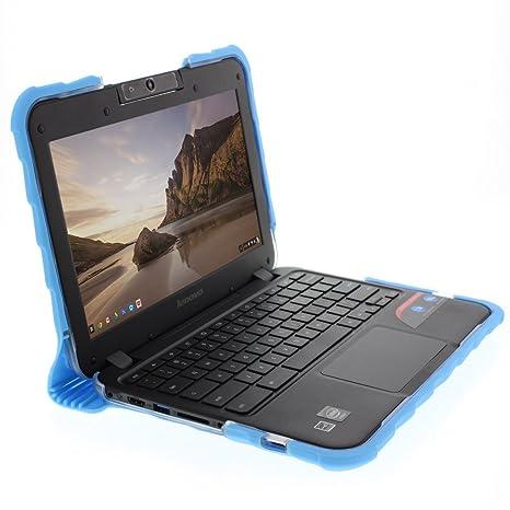 Gumdrop Droptech Case for Lenovo N21 & Lenovo N22 Chromebook Laptop for  K-12 Students, Teachers, Kids - Blue, Rugged, Shock Absorbing, Extreme Drop