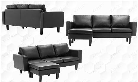 Outstanding Amazon Com Kchex Sectional Sofa Kitchen Dining Short Links Chair Design For Home Short Linksinfo