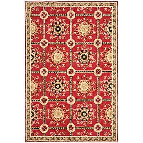 Safavieh Easy to Care Collection EZC711A Hand-Hooked Red and Natural Area Rug (6′ x 9′) Review