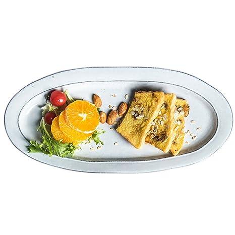 Platos llanos Platos y fuentes Vajilla Cubertería Placa de cerámica / placa de pescado vintage escandinava