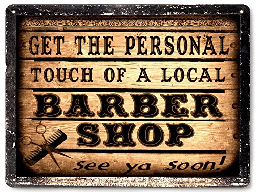 Barber Shop metal sign wall vintage antique style local Hair Stylist wall decore art 004 ()