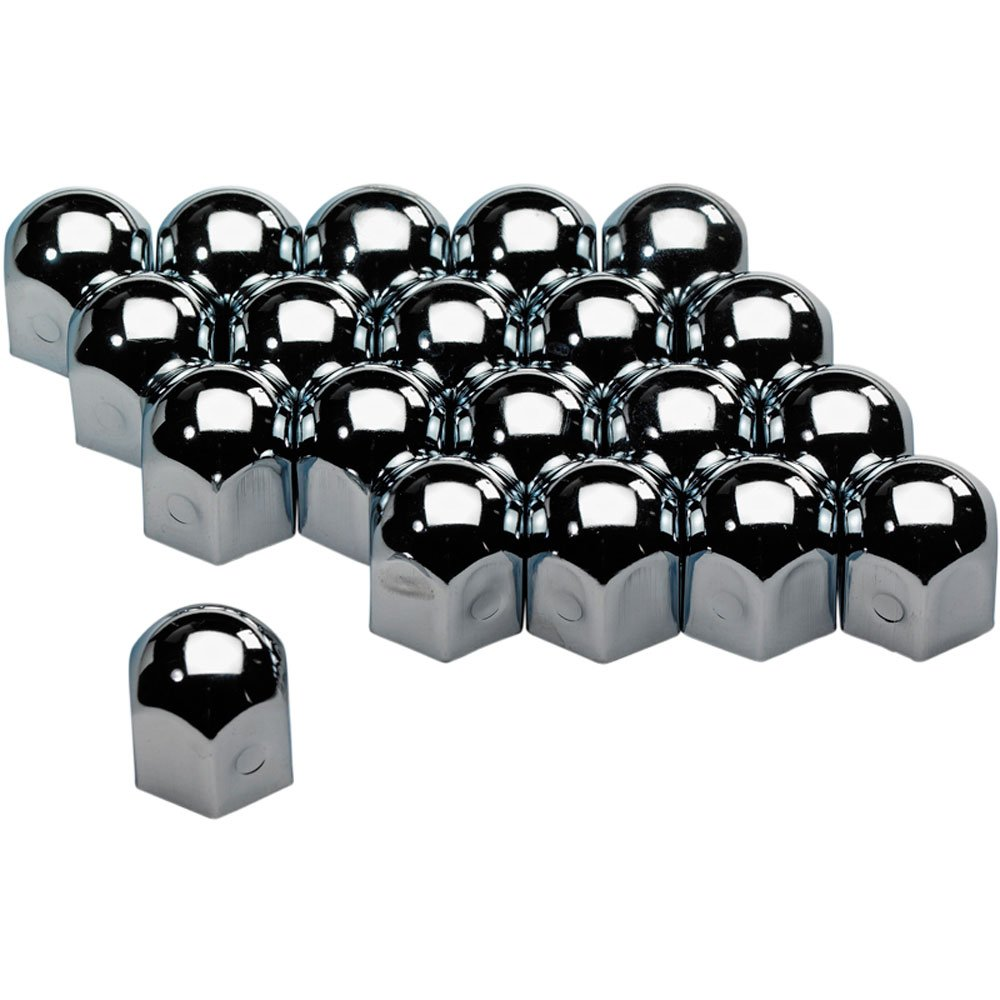 Wheel Nut Covers Chromed Steel 19mm/20pcs AUTOSTYLE SYWN19S