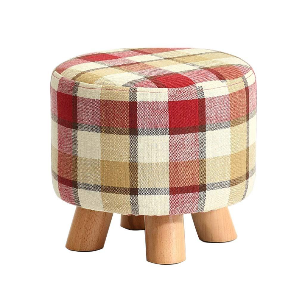 Taburete redondo Puf otomano Taburetes tapizados en en en madera maciza para piesCamas creativas para sofaacute; en forma de taburete, 4 patas, 29 times; 29 times; 25cm (largo times; ancho times; alto), carga-150kg ( Color : 3 ) 5351b8