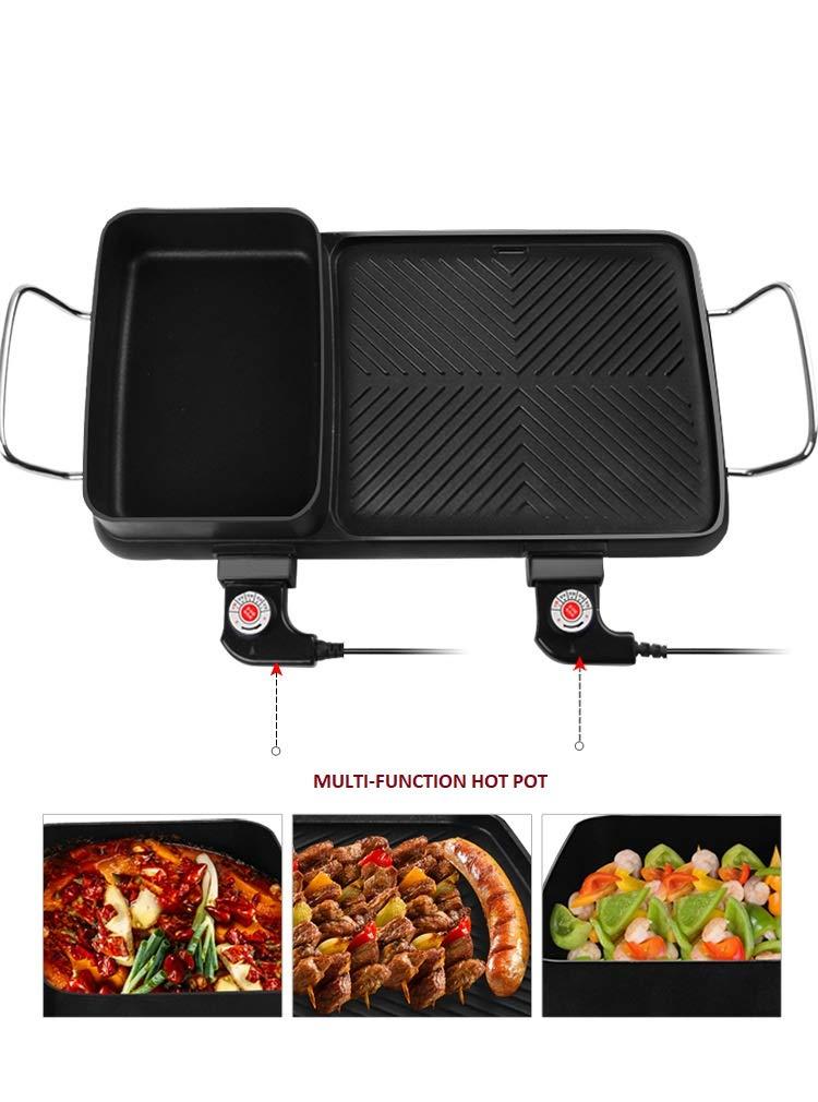 Multi-function Non-Stick Electric Hot Pot by BXB   Korean Style BBQ Hot Pot   Shabu-Shabu Barbecue Dish Electric Cooker by SHOPBXB (Image #4)