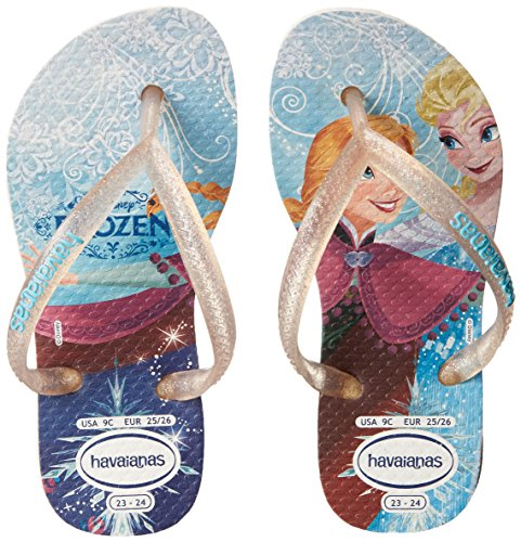 Havaianas Kids Slim Princess Sandal Flip Flops (Toddler/Little Kid), White, 33-34 BR/3-4 M US Little Kid by Havaianas (Image #6)