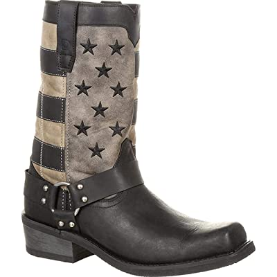 Durango Men's Black Faded Flag Motorcycle Harness Boot | Western