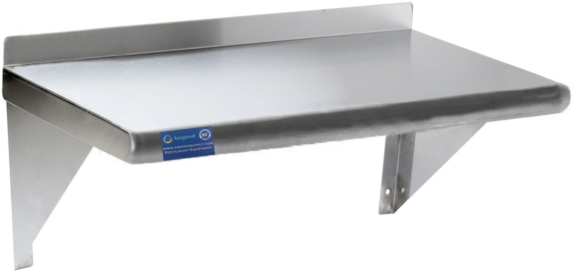 Stainless Steel Wall Mount Shelf. (18'' X 30'')