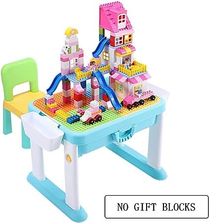 Juegos de mesas y sillas Mesa para Niños Mesa De Juego Multifunción para Bloques De Construcción