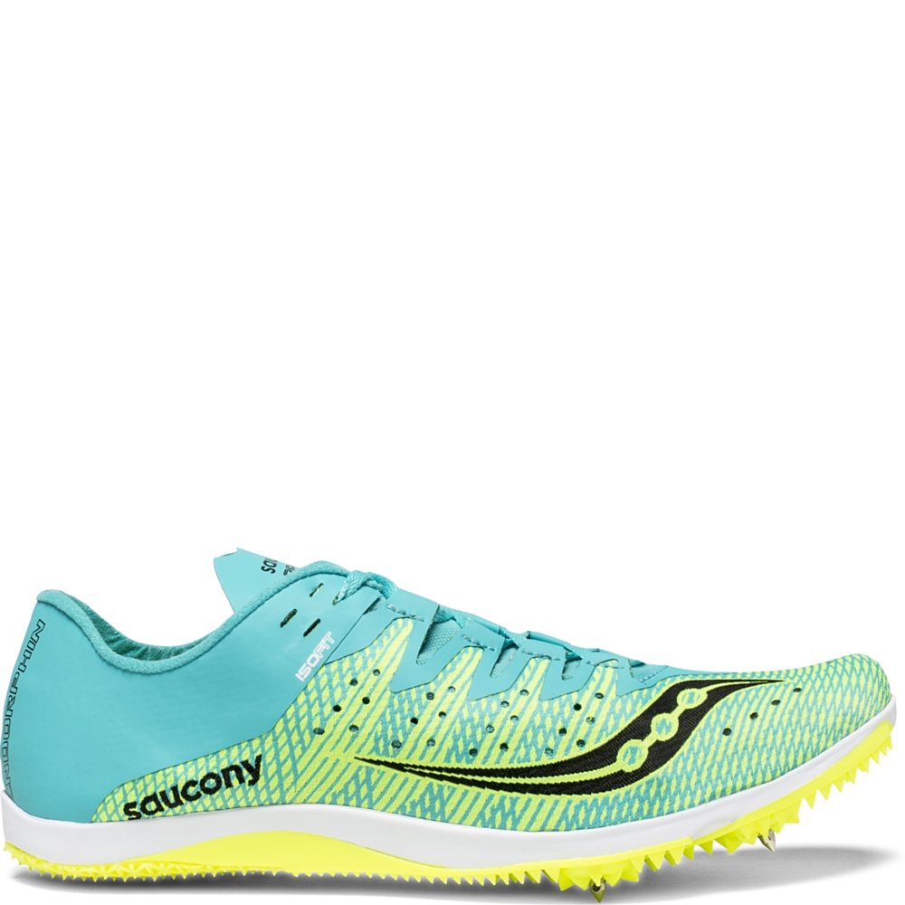 Saucony Women's Endorphin 2 Track and Field Shoe, Green/Blue, 6.5 Medium US