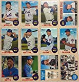 New York Mets 2017 Topps Heritage Baseball Series Basic 12 Card Team Set with David Wright Matt Harvey and Noah Syndergaard Plus